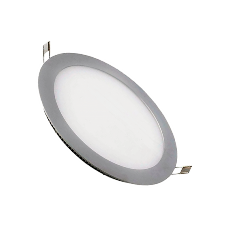 Downlight LED 12W Plata