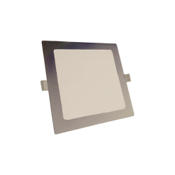 Downlight LED Cuadrado 12W Plata