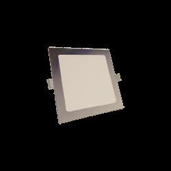 Downlight LED Cuadrado 6W Plata