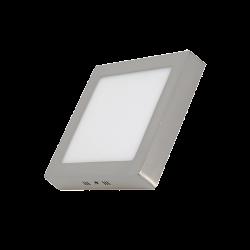 Plafón LED 18W Cuadrado Plata