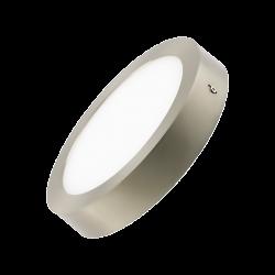 Plafón LED 18W Plata