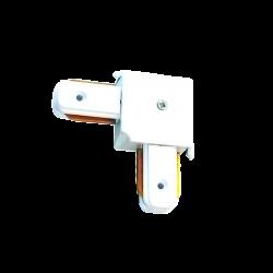 Unión carril codo blanco