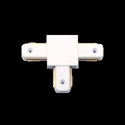 Unión carril T blanco