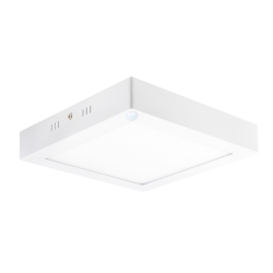 Plafón LED cuadrado 18W con SENSOR de movimiento