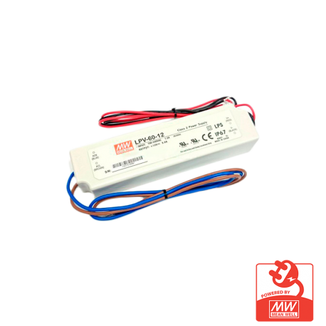 Transformador Mean Well 60W IP67 12V