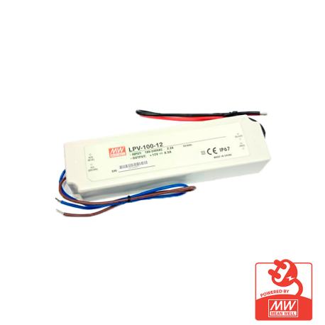 Transformador Mean Well 12V IP67 100W